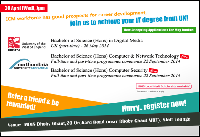 Preview Session on Degree programmes on 30th Apr 2014