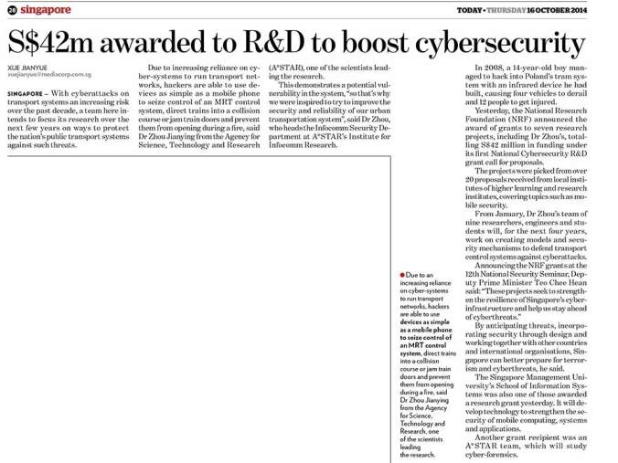 Today-Paper---S$42m-awarded-to-R&D-to-boost-cybersecurity-(16-Oct-2014)_edited_1000
