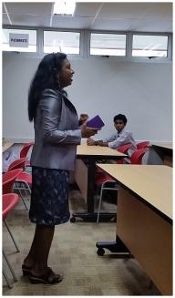 Head of School, Ms Mullai